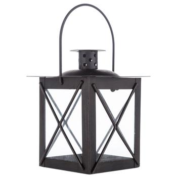 Mini Black Square Metal Glass Candle Lantern Hobby Lobby 644518